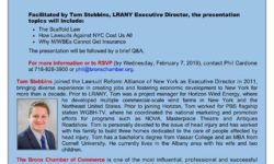 Bronx Chamber of Commerce and Lawsuit Reform Alliance of New York invite you to attend a Free Seminar: New York's Liability Crisis