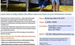 Free Seminar: How Do Taxes Fit into your Retirement Planning? Wed, March 28