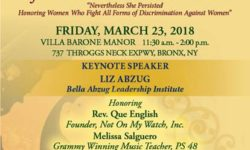 Bronx Chamber of Commerce Women of Distinction Luncheon – March 23