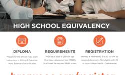 High School Equivalency – TASC/GED Class – FREE – Apr 16