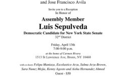 Reception In Honor of Assembly Member Luis Sepulveda – April 13