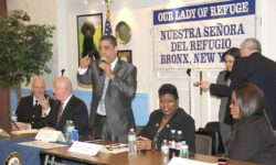 Congressman Adriano Espaillat stated he plans to hold similar public safety forums is the surrounding communities.--Photo by David Greene