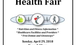 Health Fair Sunday, April 29th