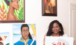 Contemporary Garifuna Art Exhibit & Sales by Garifuna Artist Isidra Sabio