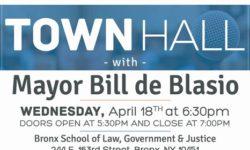Town Hall with Mayor de Blasio Wednesday, April 18