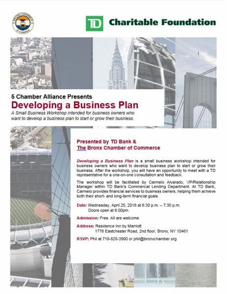 Bronx Chamber of Commerce, TD Bank and the 5 Chamber