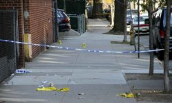 A 37 year-old male was shot and killed Tuesday morning along Perry Avenue in Norwood.--Photo by David Greene