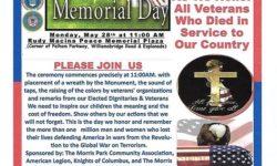 Memorial Day at Rudy Macina Peace Memorial Plaza – May 28