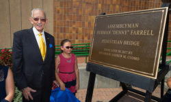 "Governor Andrew M. Cuomo honored the retirement of Assemblyman Herman ""Denny"" Farrell Jr. by dedicating the most visited State Park in New York City as Denny Farrell Riverbank State Park."