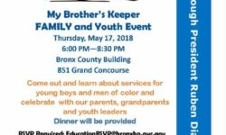 My Brother's Keeper Family and Youth event, May 17