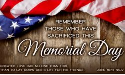 HAPPY MEMORIAL DAY AS WE REMEMBER THOSE WHO MADE THE ULTIMATE SACRIFICE