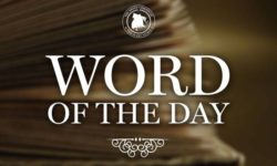 Word of the Day: October 31, 2018
