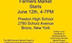 Farmer's Market at Preston High School Now Open!