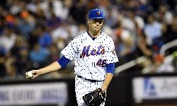 07/23/18  San Diego Padres  vs  New York Mets  at   citifield  queens  ny  photos  by  sportsdaywire   New York Mets starting pitcher Jacob deGrom #48  reacts  after    giving up a  run  in the 5th innning