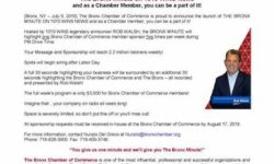 Bronx Chamber of Commerce announces the launch of The Bronx Minute on 1010 WINS News