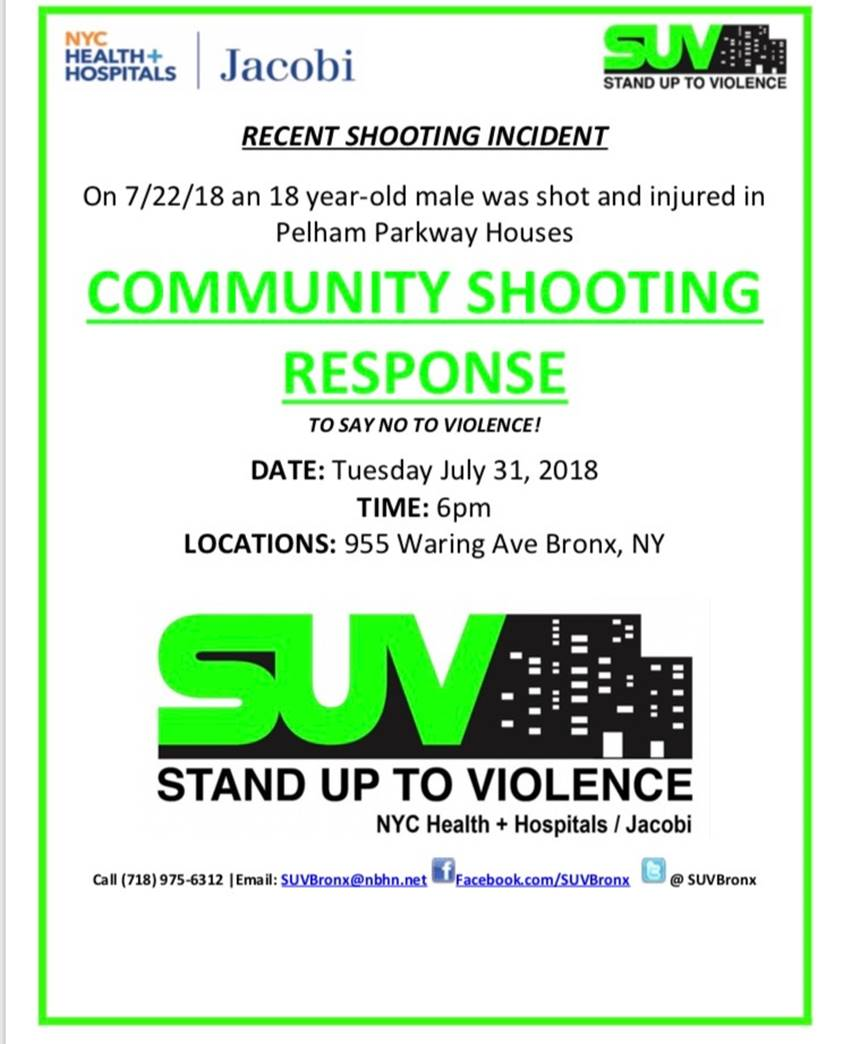 COMMUNITY RESPONSE RALLY – Your SUPPORT IS NEEDED Today, TUESDAY, JULY 31st, 6:00 PM at 955 Waring Avenue