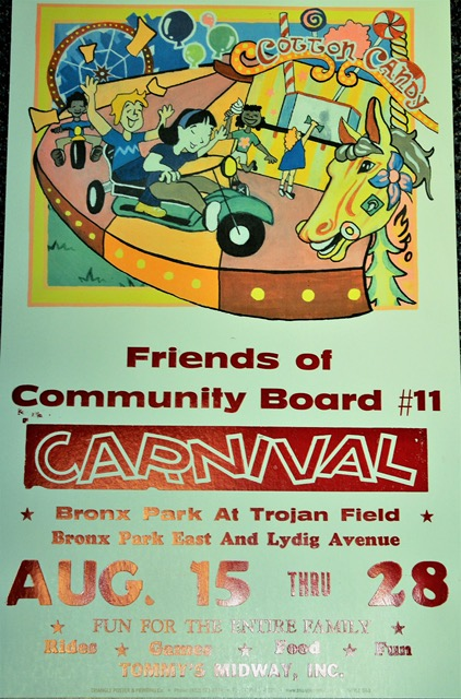 CARNIVAL TIME – COME ONE, COME ALL – FREE ADMISSION * GAMES * RIDES * FOODS * BRONX PARK EAST & LYDIG AVE. WEDNESDAY, AUGUST 15th THRU TUESDAY, AUGUST 28th.