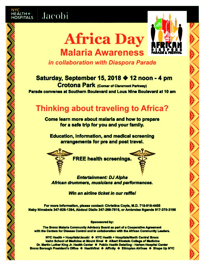 RESCHEDULED) NYC Health + Hospitals/Jacobi Presents Africa Day - The