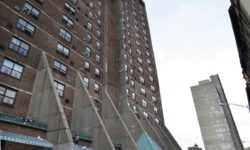 Sepulveda, Blake and Gibson Tour Water-damaged NYCHA Building