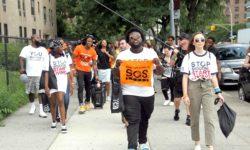 Parkland Survivors meet Local Anti-Violence Advocates and March Through Forest Houses