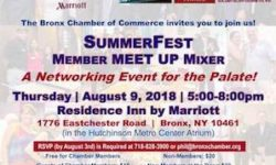 Bronx Chamber of Commerce August 9th SummerFest Membership Mixer — A Networking Event for the Palate!