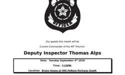 Pelham Parkway Neighborhood Association Community Meeting 9/4/18