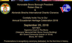 Bronx Annual Ecuadorian Heritage Celebration 2018