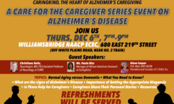 A Care for the Cargiver Series Event on Alzheimer's Disease – December 6