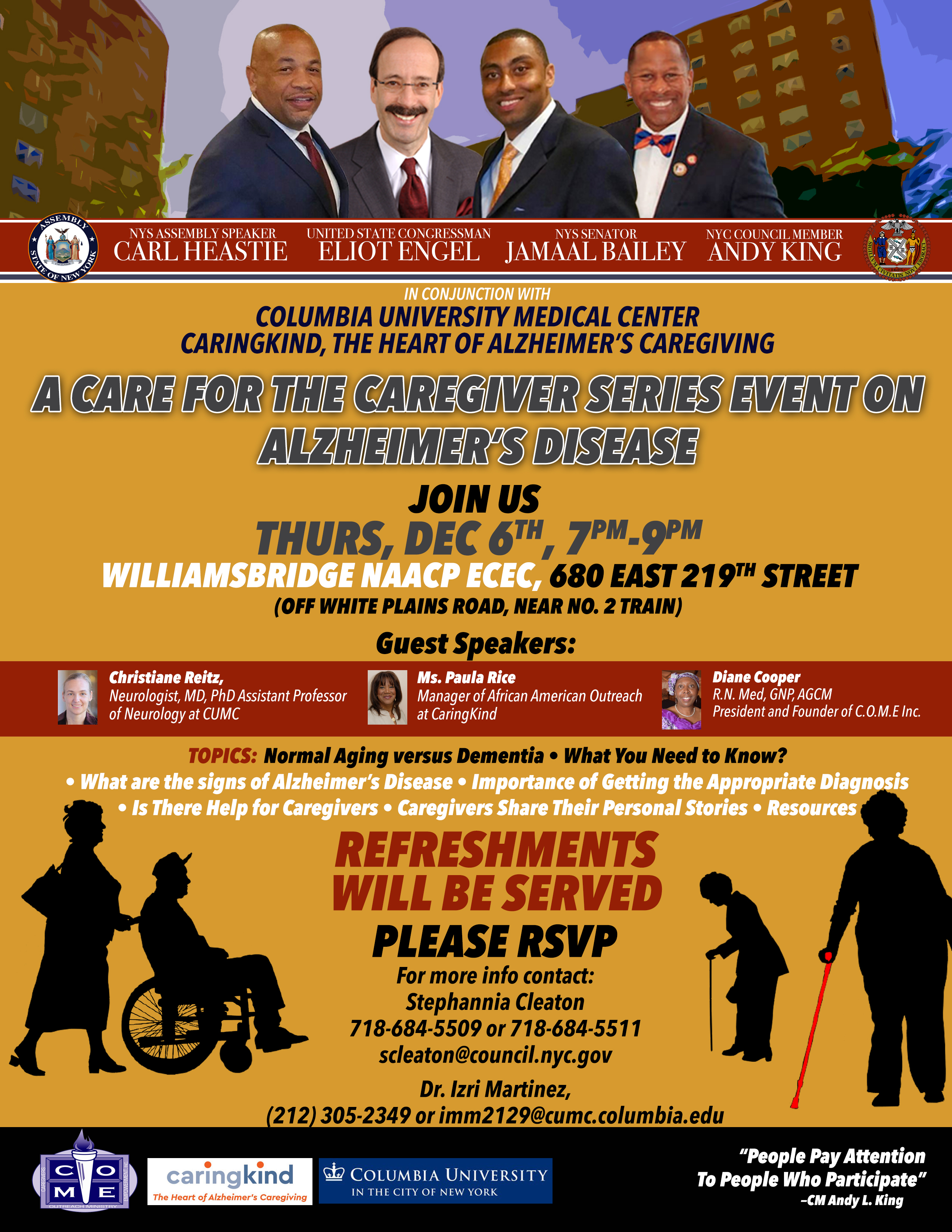 A Care for the Cargiver Series Event on Alzheimer's Disease