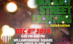 Holiday Street Lighting at Williamsbridge Square – December 4