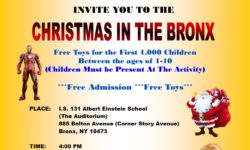 Christmas in the Bronx – Today at 4PM