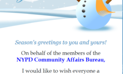 Happy Holidays from NYPD Community Affairs
