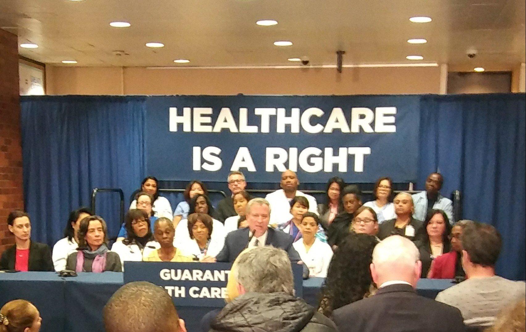 Mayor de Blasio Announces Universal Health Care Plan - The Bronx