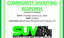"""Shooting Response Rally"" –  PLEASE JOIN US THIS THURSDAY, Jan. 31st, 6PM"