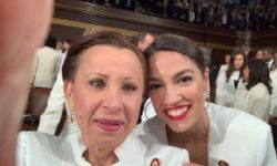Boricua Power! US Reps. Nydia Velazquez (D-Brooklyn) and Alexandria Ocasio-Cortez (D-Bronx/Queens) at the 2019 State of the Union. Credit: Twitter @NydiaVelazquez