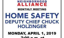 VAN NEST NEIGHBORHOOD ALLIANCE–MONTHLY MEETING–MONDAY APRIL 1, 2019–7:00PM