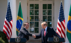 President Trump Welcomes the President of the Federative Republic of Brazil to the White House.  (Official White House Photo by Tia Dufour)