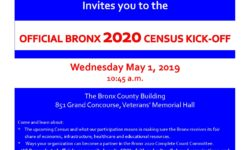 Bronx Census Kick-Off-Wednesday, May 1st