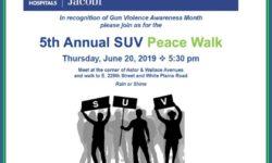 SUV: 5th Annual Peace Walk on June 20th