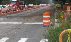 Pelham Parkway down to two lanes as reconstruction of the Parkway between Eastchester and Williamsbridge Roads.