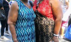 Former Deputy Bronx Borough President Aurelia Greene with Councilwoman Vanessa Gibson.