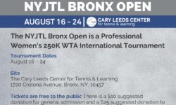 2019 NYJTL Bronx Open Tournament (August 16-24th)