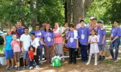 A group photo of the Friends of Pelham Parkway.