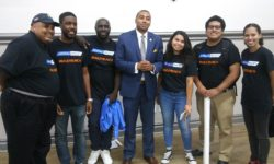 State Senator Jamaal Bailey with staffers that are called 'The Bailey Bunch'.