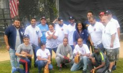 Those who participated in the softball game.