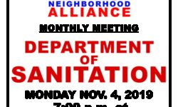 VNNA MONTHLY MEETING – MONDAY NOV. 4, 2019 AT 7:00PM