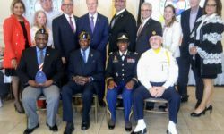 A group photo of the honorees and the Executive Board of the Bronx Chamber of Commerce.