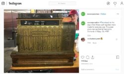 Vintage NCR cash register (Instagram)