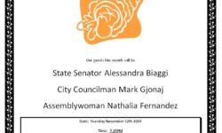 Pelham Parkway Neighborhood Association November General Meeting
