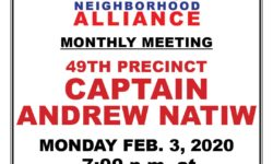 VNNA MONTHLY MEETING – MONDAY FEB. 3, 2020 AT 7:00PM